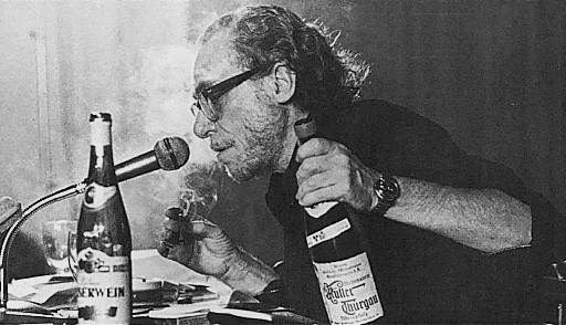 Bukowski opens up on reporters in 1980.